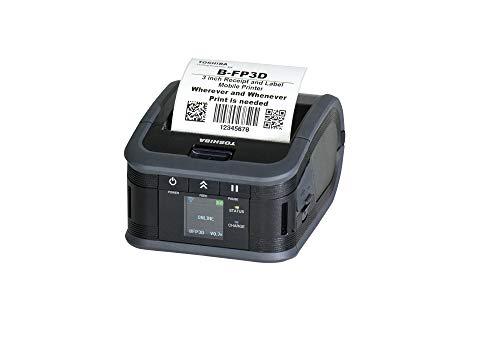 Toshiba B-FP3D Tragbarer Barcode- und Etikettendrucker, leicht (ohne Abziehen), USB/Bluetooth