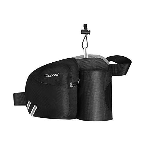 CLISPEED Hüfttaschen Gürteltasche Taille Tasche mit Flaschenhalter für Damen Herren Laufen Radfahren Wandern