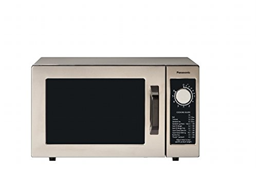 Panasonic NE-1025F Compact Light-Duty Countertop Commercial Microwave Oven with 6-Minute Electronic Dial Control Timer, Bottom Energy Feed, 1000W, 0.8 Cu. Ft. Capacity Silver