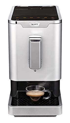 SCOTT UK - Slimissimo Fully Automatic Bean-to-Cup Coffee Machine; 19 Bar Pressure, 1.1L, 1470W