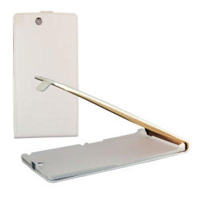 Sony Custodia Slim Verticale Flip Pelle Xperia Z Ultra, XL39H, C6802, C6806, C6833 Colore Bianco