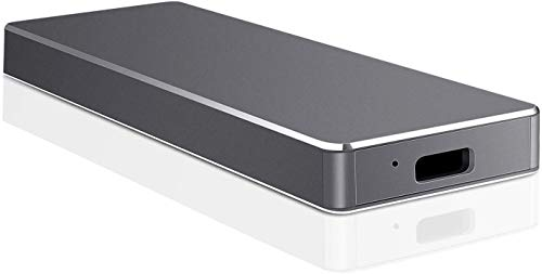 Disco duro externo de 1 TB de 2 TB, portátil USB 3.1 Type-C Slim Hard Drive Data Storage Compatible con PC, portátil y Mac (2 TB negro)