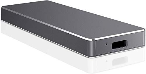 1TB 2TB External Hard Drive,Portable External Ultra Slim Hard Drive Portable HDD Type C Hard Drive for Mac,PC(1TB Black)
