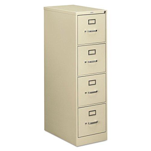 Hon 510 Series Ltr-size 4-drawer Vert File wLock-4-Drawer Letter File Vertical 15x25x52 Light Gray