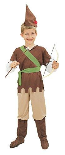 Bristol Novelty- Costume da Robin Hood Budget, Colore Verde, Age 6-8 Years Old, CC403