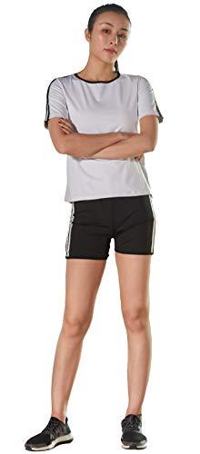 GITVIENAR Combinaison de sudation pour femme, vêtements de sport élastiques, sudation du corps, perte de poids, combinaison de sport, pantalon de sauna, pantalon de sport, pantalon de sauna, pour fitness, course à pied, yoga