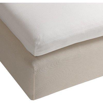Heckett & Lane matrasbeschermer hoeslaken van molton voor boxspring topper I grootte 140x200 cm I kleur wolwit