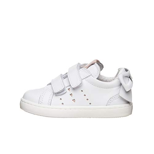 Nero Giardini E021360F Sneakers Kids da Bambina in Pelle - Bianco 24 EU