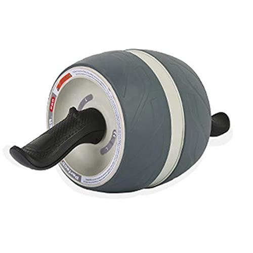 LWJDM AB Roller Wheel, Rueda Abdominales Fitness AB Roller Rodillo Rueda Rebote Automático con Rodillera para Equipo De Ejercicio AB Inferior Entrenamiento Básico De Gimnasio En,Blanco