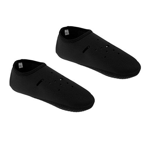 Sharplace Chausette Aqautique Chaussure d'eau Anti-Dérapante 2mm en Néoprène pour Natation Sports Nautiques - Noir, M