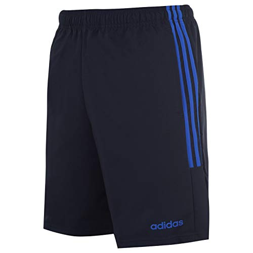 adidas Essentials 3-Stripes Herren Chelsea Athletic Laufshorts (Navy/Solar Blue, XL)