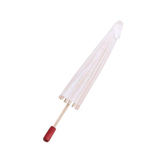 Fifimin Guarda-chuva de papel chinês, branco, branco, guarda-chuva, pintura infantil, artesanato DIY