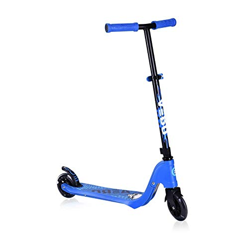 PLLP Outdoor Sports Scooter Kick,Toddler Kick with Pu Lighted Wheel Rear Brake, Adjustable for Kids Over 3Yr Old, 80Kg Max Load, Best Gift for Boy/Girl Adult Child Toy Balance Car Mini,Blue