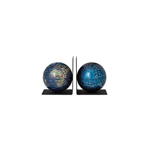 emform - Buchstützen-Set - Bookglobe Earth Galaxy - Kunststoff - 15,5x13cm