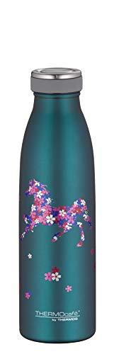 ThermoCafé Trinkflasche für Kinder 500ml, TC Bottle Pferde, Thermosflasche, Edelstahl Isolierflasche auslaufsicher, Wasserflasche 4067.101.050, Thermoskanne 12 Stunden heiß, 24 Stunden kalt