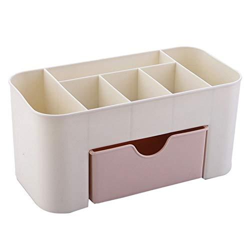 Organizador de Caja de joyería Caja de cosmética con cajones de Almacenamiento de cajones multifunción Escritorio de plástico Joyas de plástico Guardar (Color : Light Pink)