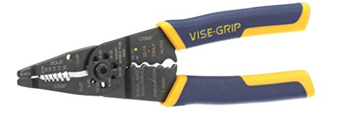 IRWIN VISE-GRIP Wire Stripping Tool / Wire Cutter, 8-Inch (2078309)