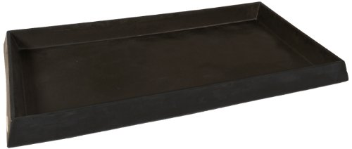 UltraTech 2328 Polyethylene Ultra-Containment Tray Without Grating, 16.5 Gallon Containment Capacity, 5 Year Warranty, Black