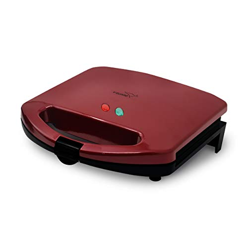 V-Guard VST75 2 Slice Triangle Electric Sandwich Maker with Fixed Triangle Non-Stick Plates 750W (Candy Red)