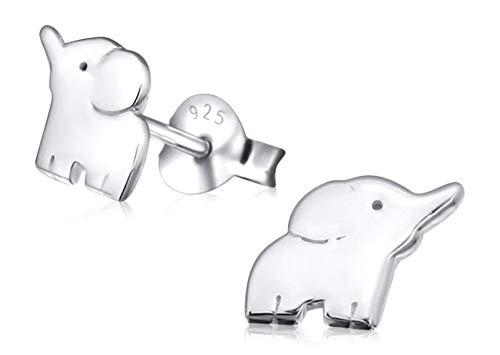 Laimons Kids Pendientes para niña Elefante Brillante Plata de ley 925