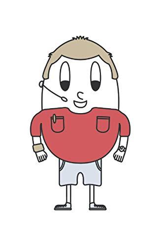 MAPHILLEREGGS Handball-Schiedsrichter's Notizbuch: 120 weiße Seiten liniert | blanko mit Linien | 15.24 x 22.86 cm (6
