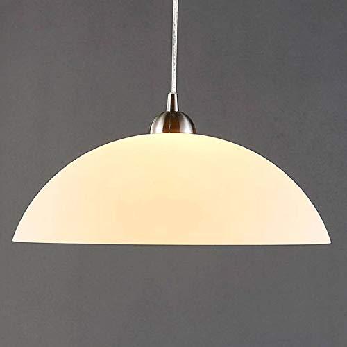 Lámpara colgante 'Valeria' (Moderno) en Blanco hecho de Vidrio e.o. para Cocina (1 llama, E27, A++) de Lindby | lámpara colgante de vidrio, lámpara colgante, lámpara colgante mesa de comedor, lámpara