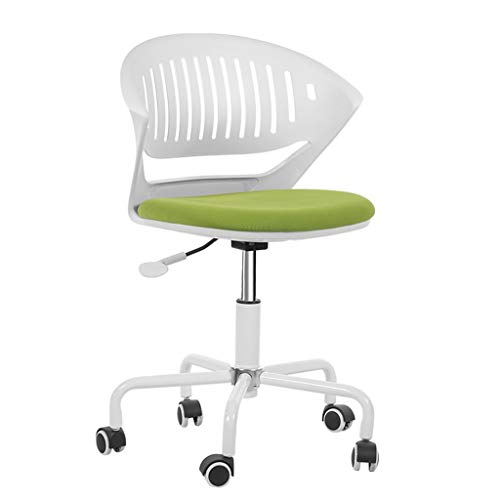 PLEASUR Children's chair Small computer chair Home lift chair Learning chair Study desk chair Chair in the office Chair that can rest (Color : Green, Size : 53cm*55cm*75cm)