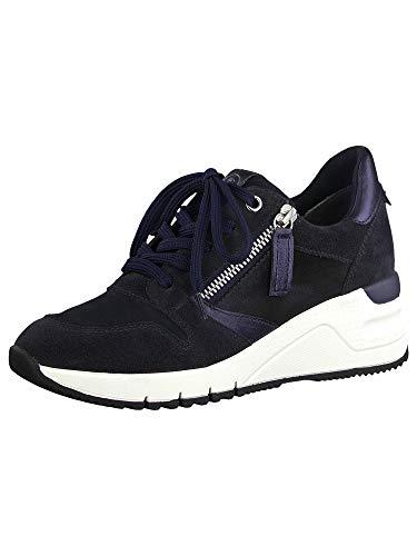 Tamaris Damen Schnürhalbschuhe, Frauen sportlicher Schnürer,lose Einlage, strassenschuh Sneaker schnürer freizeitschuh,Navy Comb,41 EU / 7.5 UK