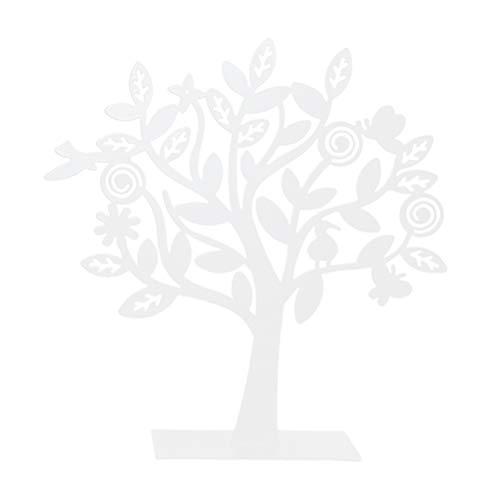 Topbathy - Colgante con forma de árbol para colgar en el hogar (estilo B, blanco)