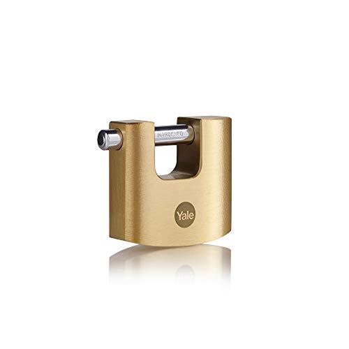 YALE Y114B/70/113/1 Candado De Alta Seguridad, Latonado, 70 mm