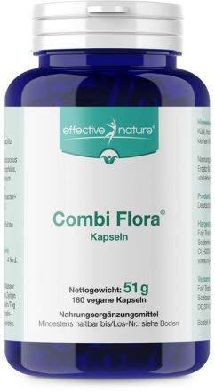 effective nature Combi Flora Kapseln - Zur Täglichen Nahrungsergänzung - 180 vegane Kapseln