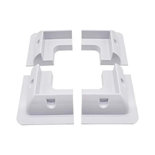 ECO-WORTHY - Staffa di montaggio per pannello solare, 4 pezzi, colore: Bianco
