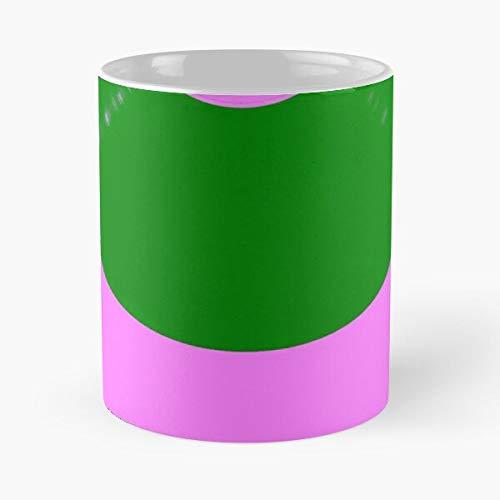 Green Retro Cover and Royalty Label Free 60S Music Stock Album Kpm Pink Bright Best 11 oz Kaffeebecher - Nespresso Tassen Kaffee Motive