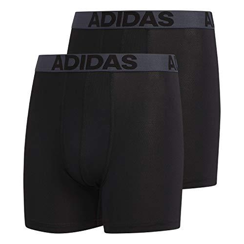 Adidas Jungen Sport Performance Climalite Boxershorts, 2er-Pack Gr. S, Schwarz/Thunder Grey Black/Thunder Grey