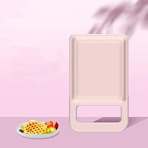Sandwich Maker Toastie avec Sandwich Petit déjeuner machine Double-Sided chauffage Gaufrier (Rose) LMMS