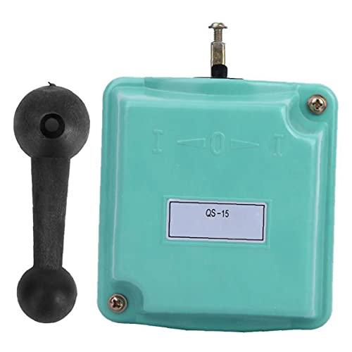 Interruptor De Tambor Hacia Delante Fuera De Marcha Atrás Rotary Control De Leva De Arranque Qs-15 Para Monofásico Motor Trifásico Tambor Interruptor Finebrand