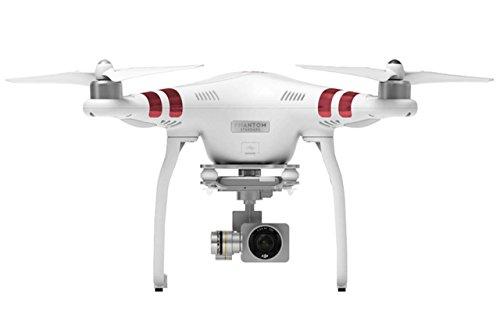 DJI Phantom 3 Standard Aerial UAV Quadrocopter Drohne mit Integrierter 2.7K Full-HD Videokamera, 3-Achsen-Gimbal, Digitaler Fernsteuerung - Weiß/Rot