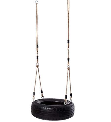 WYDML Heavy duty 2-ketting rubberen band schommelstoel met verstelbare beklede zwenkkettingen band draaibare haak montage hardware swing set accessoires