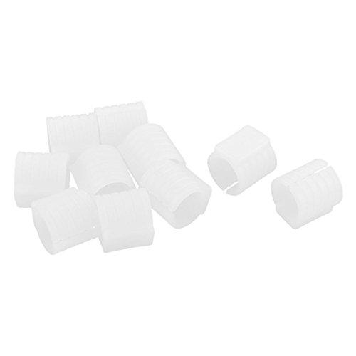 Sourcingmap Collier Tuyau Chaise Bureau Foot Tampons étage en Forme U Glisse Meubles Diamètre 16 mm Blanc Capuchons 10pcs