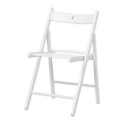 4 Sedie pieghevole sedia birreria in legno verniciato bianco richiudibile per campeggio casa e giardino