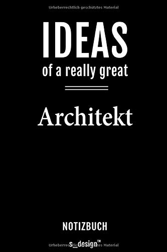 Notizbuch für Architekten / Architekt / Architektin: Originelle Geschenk-Idee [120 Seiten kariertes blanko Papier]