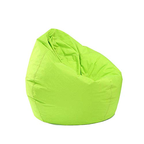 N /A Bean Bag for Adults and Kids Chair Storage, Bean Bag Oxford Chair Cover Teens Adults Lounger Sack Home Waterproof (Green, One Size)