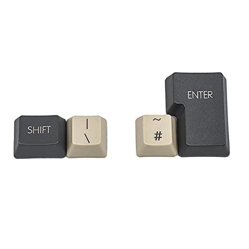 2021 Nuevo juego actualizado XDA KEYCAP – XDA 61 87 104 Keyset en blanco grueso Pbt OEM Perfil Teclados adecuados para teclado mecánico Mx, (ISO 4 Key impresa)