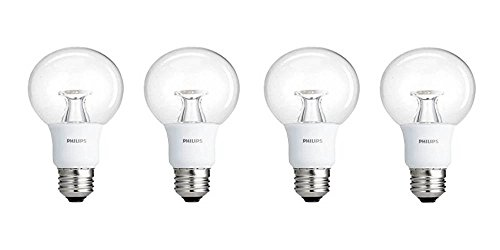 Philips LED Dimmable G25 Soft White Light Bulb with Warm Glow Effect 450-Lumen, 2700-2200-Kelvin, 7-Watt (40-Watt Equivalent), E26 Base, Clear, 4-Pack