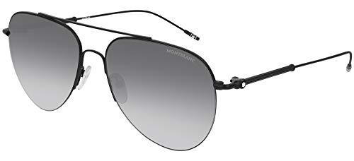 Montblanc MB 0037 S- 003 - Gafas de sol, color negro y gris