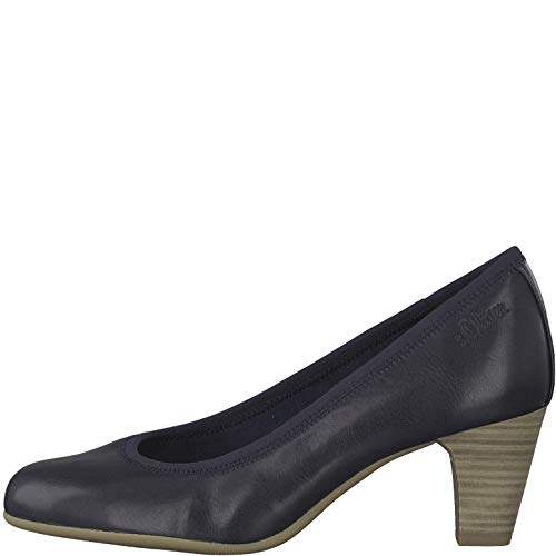 s.Oliver Damen Pumps 22415-22,Frauen Court-Shoes,Absatzschuhe,Abendschuhe,Stöckelschuhe,Navy,39 EU