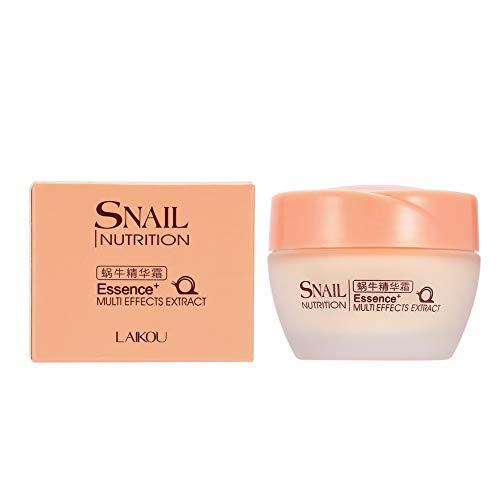 Pudincoco LAIKOU Face Care Essence Nutrition Caracol Crema Hidratante Antienvejecimiento Antiarrugas Crema de día Extracto de multiefectos (Rosa)