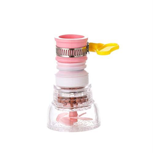 R&Xrenxia El Agua del Grifo de Ducha baño Pelele Booster Filtro de Cocina Agua del Grifo Cabeza 360 ° rociador Giratorio Grifo de la Boquilla de Ahorro de Agua de Ducha,Rosado