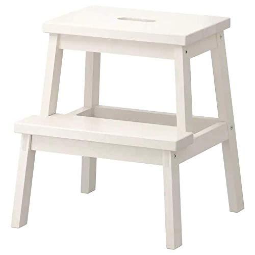 Ikea Tritthocker in weiß aus Massivholz Bekväm-Taburete de Madera Maciza, Color Blanco, 50 cm