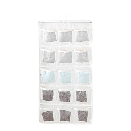 Borsa di stoccaggio a Parete Organizzatore d'attaccatura Impermeabile per Calze Biancheria Intima Appendere Armadio Armadio Armadio (Color : White)